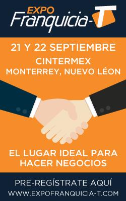 Expo franquicia T, 21 y 22 de septiembre, CINTERMEX