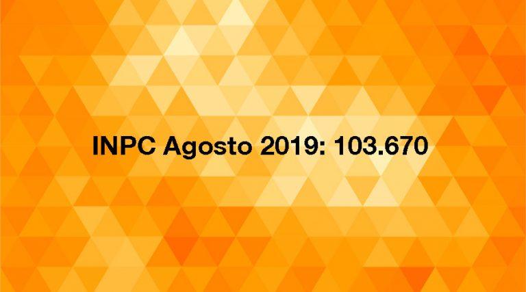 INPC agosto 2019