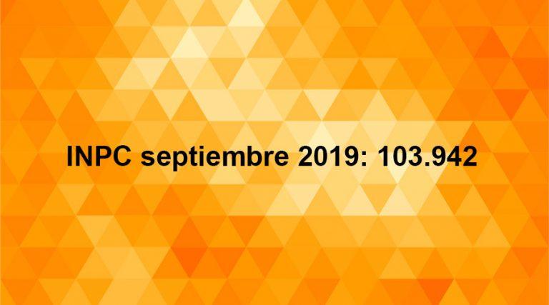 inpc septiembre 2019 inflación