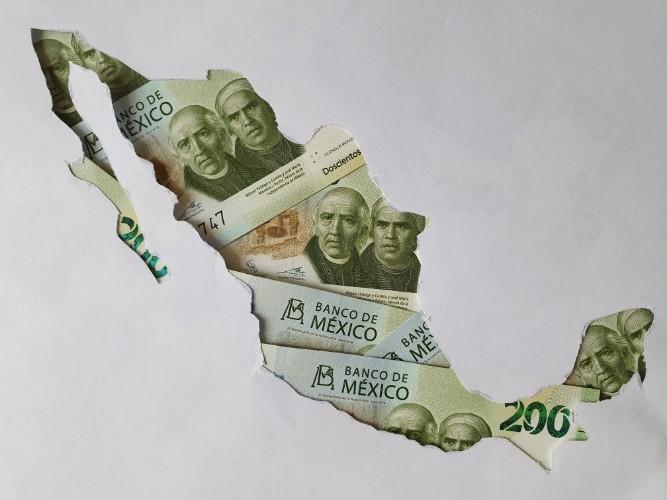 Territorio mexicano en billetes