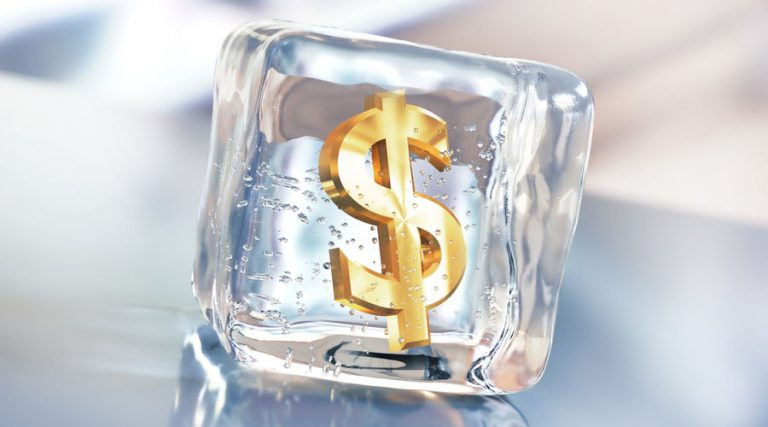 dinero congelado cuentas congeladas