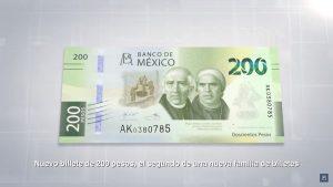 elementos de seguridad del billete de 200 pesospara identificar billetes falsos