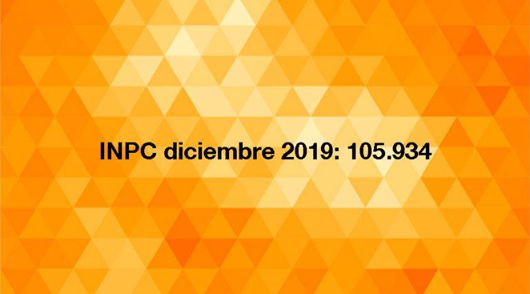 inflación inpc diciembre 2019