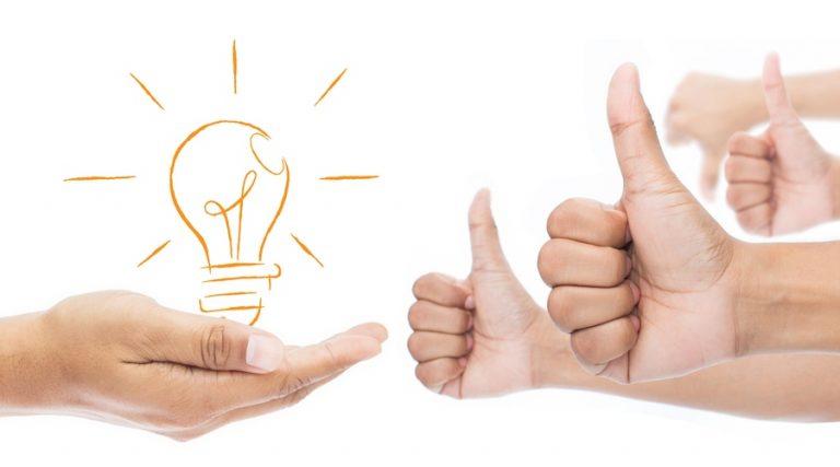 apoyando una idea