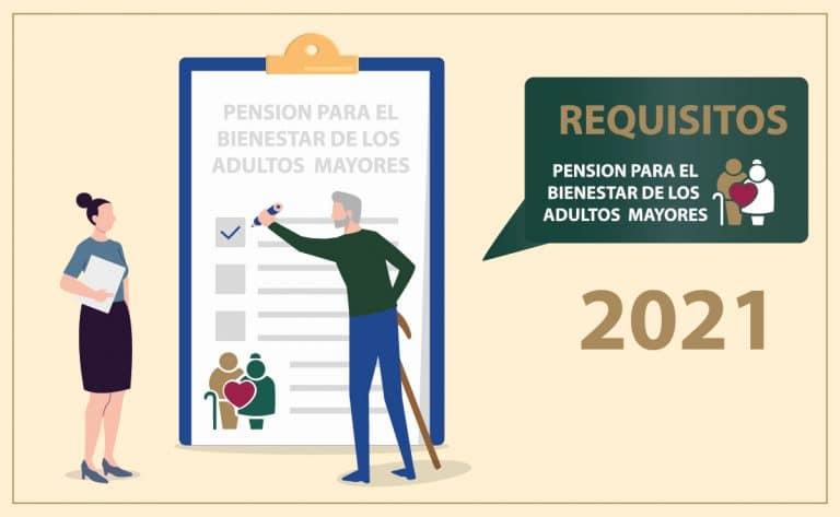 Requisitos para tramitar la pensión para el bienestar de los adultos mayores 2021