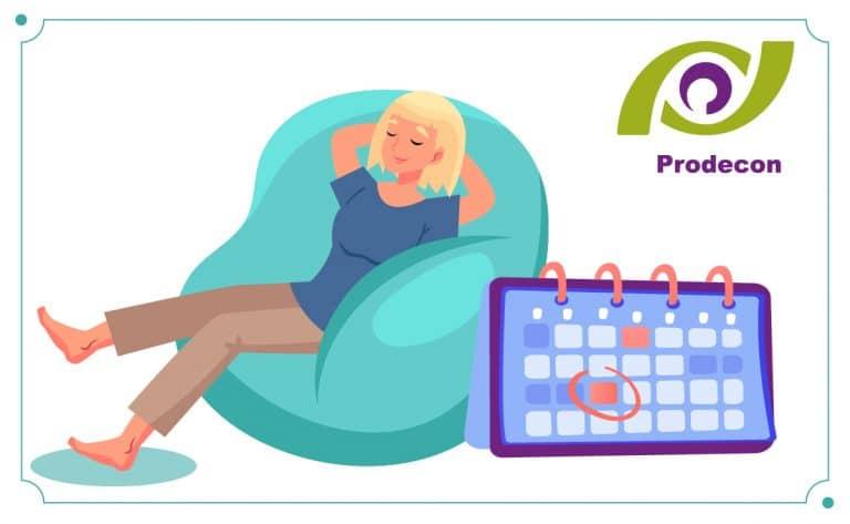 Días inhábiles y períodos de vacaciones de la Prodecon del 2021